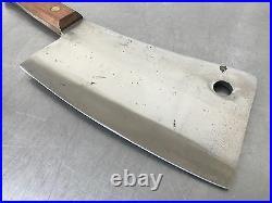 1 Original NOS Vintage Foster Bros. Cleaver Solid Steel 2190 Hickory Handle