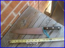 1930s Vintage 10 Blade TAPPE Solingen XL Carbon Chef Knife GERMANY