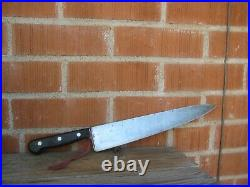 1930s Vintage 12 Blade GUSTAV EMIL ERN Carbon Chef Knife GERMANY