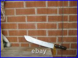 1930s Vintage 14 Blade DEXTER Huge Carbon Butcher Breaking Knife USA