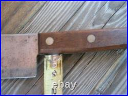 1930s Vintage 6 3/4 Blade x 1 lb. Wt. CASE TESTED XX Carbon Cleaver Knife USA