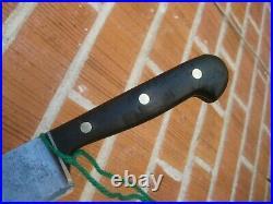 1930s Vintage 6 Blade ED. WUSTHOF Carbon Chef Knife GERMANY