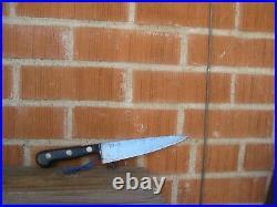 1930s Vintage 7 1/4 Blade ED. WUSTHOF Carbon Chef Knife GERMANY