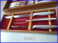 1950's Vintage Gerber Legendary Blades 12 Piece Knife/ Carving Set in Wood Boxes
