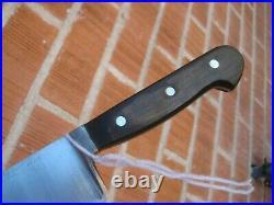 1950s Vintage 10 Blade ED. WUSTHOF Carbon Chef Knife GERMANY