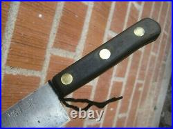 1950s Vintage 8 Blade FOSTER BROS. Carbon Chef Knife USA