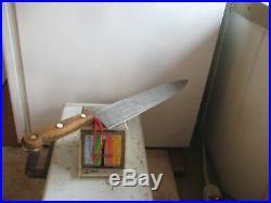 1953 Vintage 11 3/4 Blade ONTARIO 3XL US Military Carbon Chef Knife USA