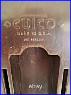 4 Knife CUTCO Brown Orange Swirl Handle Knife Set 1022 1023 1024 1025 Wall Mount