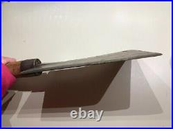 ANTIQUE VINTAGE 18 MEAT CLEAVER GUS V. BRECHT BUTCHER #2 KNIFE 9 Blade Rare