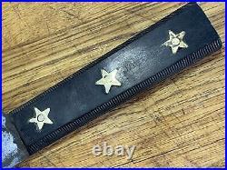 Antique 16 Foster Bros Jaeger Gold Star Butcher Knife