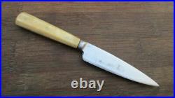 Antique 1800s Victorian Sheffield Carbon Steel Paring Knife withBone RAZOR SHARP