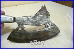 Antique 1900 German Butcher Meat Cleaver Knife Fox Renard Feuille de Boucher