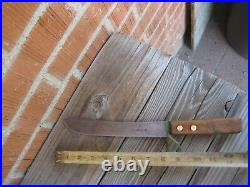 Antique 8 Blade HUMPHREYS 1800s Sheffield Carbon Butcher Knife ENGLAND