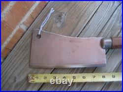 Antique 8 Blade x 1 1/2 lbs. FOSTER BROS. Fine Carbon Cleaver Knife USA
