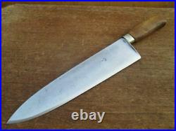 Antique ACME SABATIER French Chef or Butcher Lamb Splitting Knife RAZOR SHARP