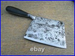 Antique Custom-made Italian Chef's Carbon Steel Meat Cleaver Knife RAZOR SHARP