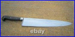 Antique English Army Sheffield Carbon Steel Chef Knife Dated 1950 RAZOR SHARP