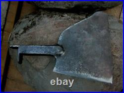 Antique Enormous Meat Cleaver Butcher Tool Carbon Steel Knife Chopper 1930 Grams