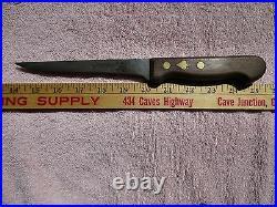 Antique FRIEDR. HERDER ABR. SOHN Solingen Germany Carbon Steel Knife Spade Inlay