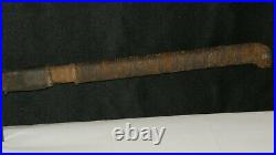 Antique Foster Brothers 13 Hog/Beef Splitter Leather Wrapped Handle