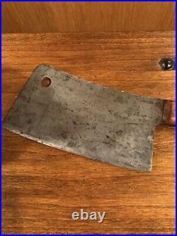 Antique Fulton Brand- Foster Bros Meat Cleaver- Hatchet- # 1180