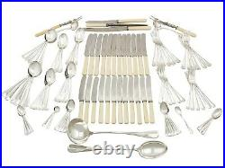 Antique George V Sterling Silver Canteen of Cutlery for Twelve Persons 1928