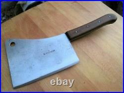 Antique HENCKELS Germany MASSIVE Chef/Butcher Meat Cleaver Knife RAZOR SHARP