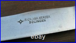 Antique HERDER Hand-Forged Carbon Steel Small Chef or Utility Knife RAZOR SHARP