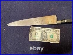 Antique Hand-Forged Four Star Elephant Carbon Steel Sabatier Chef's Knife 9 3/4E