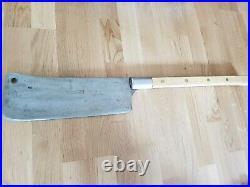 Antique Heavy Rare F Dick Hog Splitter Cleaver Nice Age Patina