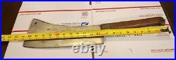 Antique Huge Gigantic Clever Hog Splitter 11 1/4 Blade, 20 3/4 With Handle
