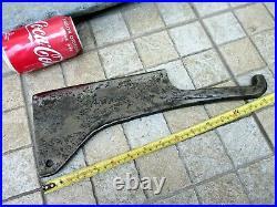 Antique Huge Old Meat Cleaver Butcher Carbon Steel Knife Chopper Blacksmith Made