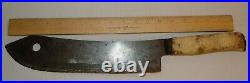 Antique L&IJ #12 White Buffalo NY Chef's Meat Cleaver Knife 18