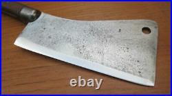 Antique L&IJ White Buffalo, NY Chef's #8 Butcher Meat Cleaver Knife RAZOR SHARP