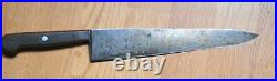 Antique Large Chef's Knife J. A. HENCKEL'S Solingen 10 Blade High Carbon Steel