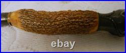 Antique Meridan Cutlery BLACK FOREST STAG HORN Antler Handle Knife Sterling