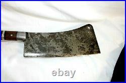 Antique NO. 41 F. DICK 10 Cleaver Hog Splitter Butcher Germany Knife Very Sharp
