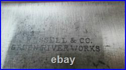 Antique RUSSELL Green River Works Chef's Bolstered Butcher Knife RAZOR SHARP
