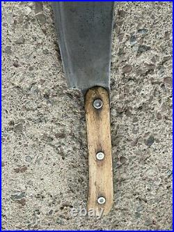 Antique Rare Huge F Dick German Cleaver HOG SPLITTER Wood Handle no. 84