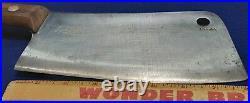 Antique Rare Huge F Dick German Cleaver HOG SPLITTER Wood Handle no. 84 BRAND NEW