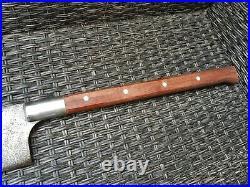 Antique Rare Huge F Dick German HOG Splitter Cleaver Carbon Steel Wood Handle