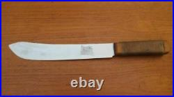Antique Russell Green River Works Carbon Steel Chef/Fishmonger's Butcher Knife