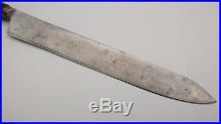 Antique SHEFFIELD Horn Handle Carbon steel Vintage butcher Carving knife