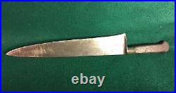 Antique Sabatier Chef Knife Rue St Honore 84 A Paris France 11.5 Blade