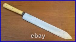Antique Victorian-Era Sheffield Bone-handled Chef's Slicing Knife RAZOR SHARP