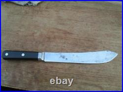 Antique WINCHESTER Chef's XL Bolstered Carbon Steel Butcher Knife RAZOR SHARP