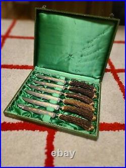 Anton Wingen Solingen Antler Steak Knives