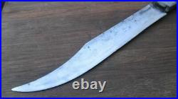 BEAUTIFUL Antique Swedish Chef's Butcher Carving Knife withStar Inlay Handles