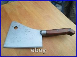 BEAUTIFUL Vintage Foster Bros. Chef's #6 Carbon Steel Meat Cleaver RAZOR SHARP