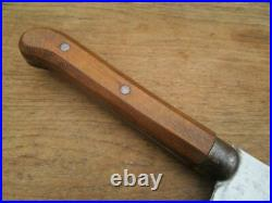 BEAUTIFUL Vintage Foster Bros. Chef's #7 Carbon Steel Meat Cleaver RAZOR SHARP